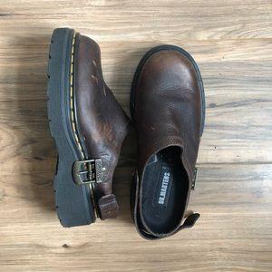 Vintage Brown Leather Doc Marten Platforms